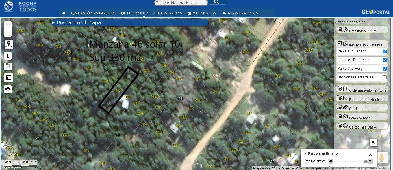 Se Vende Terreno a 250 metros de la playa de Punta Rubia .